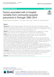 Factors associated with in-hospital mortality from community-acquired pneumonia in Portugal: 2000-2014