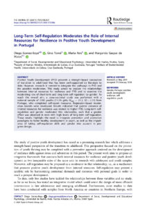 Long-Term Self-Regulation Moderates the Role of Internal Resources for Resilience in Positive Youth Development in Portugal