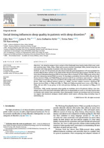 Social timing influences sleep quality in patients with sleep disorders