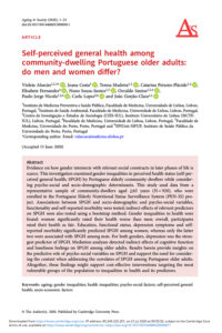 Self-perceived general health among community-dwelling Portuguese older adults: do men and women differ?
