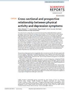 Cross-sectional and prospective relationship between physical activity and depression symptoms