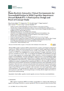 Photo-Realistic Interactive Virtual Environments for Neurorehabilitation in Mild Cognitive Impairment (NeuroVRehab.PT): A Participatory Design and Proof-of-Concept Study