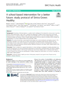 A school-based intervention for a better future: study protocol of Sintra Grows Healthy