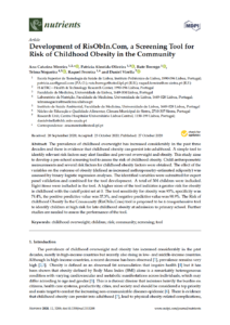 Development of RisObIn.Com, a Screening Tool for Risk of Childhood Obesity in the Community