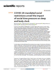 COVID-19-mandated social restrictions unveil the impact of social time pressure on sleep and body clock