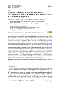 Selecting Indicators to Monitor and Assess Environmental Health in a Portuguese Urban Setting: A Participatory Approach