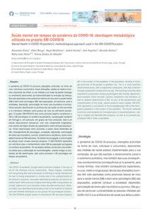 Saúde mental em tempos da pandemia da COVID-19: abordagem metodológica utilizada no projeto SM-COVID19