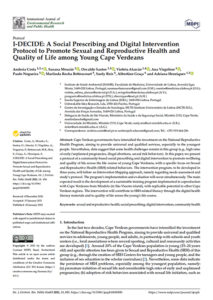 I-DECIDE: A Social Prescribing and Digital Intervention Protocol to Promote Sexual and Reproductive Health and Quality of Life among Young Cape Verdeans