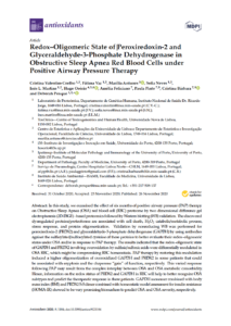 Redox–Oligomeric State of Peroxiredoxin-2 and Glyceraldehyde-3-Phosphate Dehydrogenase in Obstructive Sleep Apnea Red Blood Cells under Positive Airway Pressure Therapy