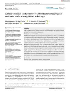 A cross‐sectional study on nurses' attitudes towards physical restraints use in nursing homes in Portugal