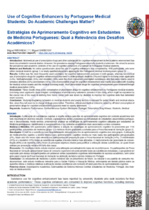 Use of Cognitive Enhancers by Portuguese Medical Students: Do Academic Challenges Matter?