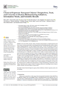 Chemical Exposure: European Citizens' Perspectives, Trust, and Concerns on Human Biomonitoring Initiatives, Information Needs, and Scientific Results