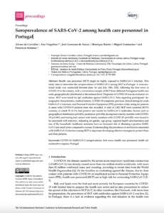 Seroprevalence of SARS-CoV-2 among health care personnel in Portugal