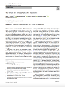 The time is ripe for oocyte in vitro maturation