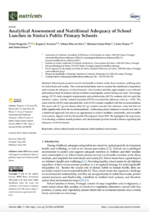 Analytical Assessment and Nutritional Adequacy of School Lunches in Sintra's Public Primary Schools