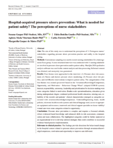 Hospital-acquired pressure ulcers prevention: What is needed for patient safety? The perceptions of nurse stakeholders