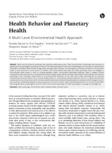 Health Behavior and Planetary Health – A Multi-Level Environmental Health Approach