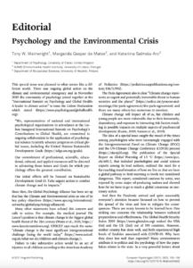 Psychology and the Environmental Crisis